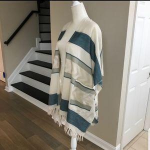 NWOT Lucky Brand Boho Fringe Long Kimono